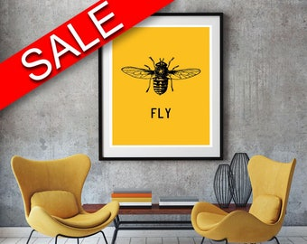 Wall Art Fly Digital Print Fly Poster Art Fly Wall Art Print Fly Home Art Fly Home Print Fly Wall Decor Fly insect