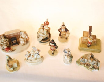 Vintage Sebastian Figurines from the 1940's thru 1970's - Lot of 9 with Damage - FREE SHIPPING!