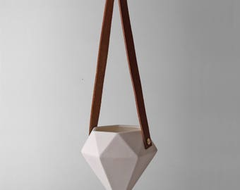 White Diamond Hanging Planter
