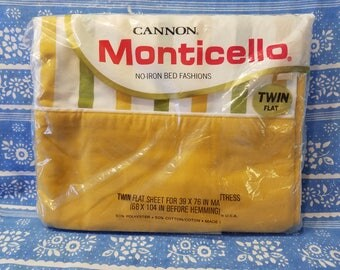 Monticello Twin flat sheet NOS