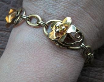 40's  Antique Victorian Art Nouveau 12 K GF Lilien Bracelet