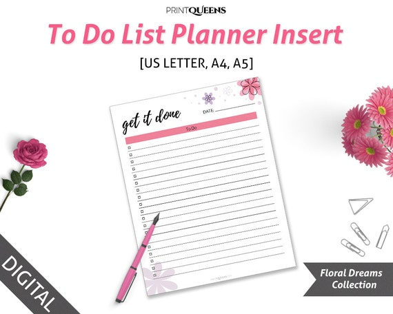 To Do List A5 To Do List Daily Planner 2017 To Do List