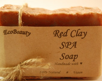 Red Clay SPA Soap Homemade soap Handmade Soap Natural soap Moroccan red clay Anti-cellulite soap vegan soap Gift Soap Gift for her
