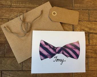 Pink Bowtie Notecard