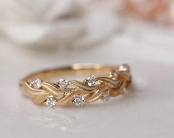 nature wedding rings nature inspired engagement rings etsy 6099