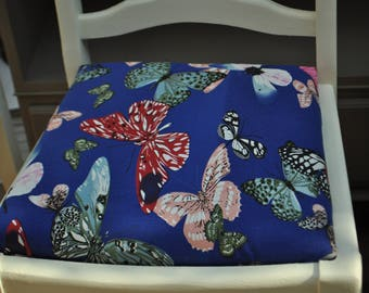 Dining chairs butterfly upholstery hand painted shabby chic style