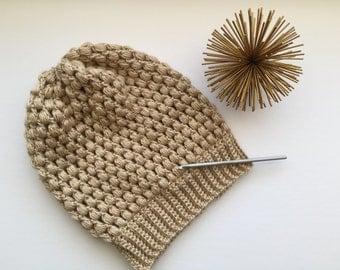 READY TO SHIP Puff Stitch Crochet Beanie