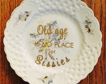 Bette Davis quote plate