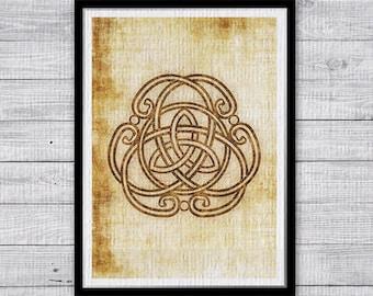 Symbol Poster Celtic knot Print,  Wall Art, Home Decor, Office decor, Celtic art Print, Medieval print