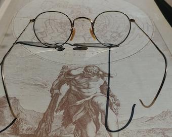 Vintage wire rim eyeglasses round B&L  12 KT GF gold  Bausch Lomb