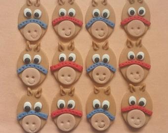 Cupcake Topper Horses 1 Doz Edible Fondant