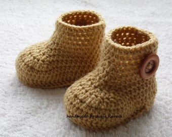 Baby booties crochet, handmade baby boots, baby shower gift, booty for newborn baby, toddler booties, crochet baby booties
