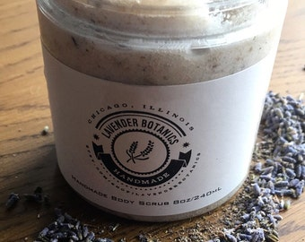 Sale! Lavender Vanilla Natural Shea Butter Body Scrub
