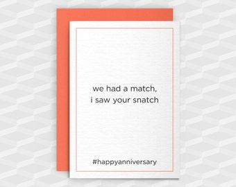 Rude Anniversary|Rude Greeting Cards|Happy Anniversary Sugar Tits|Fun Anniversary Card|Card Boyfriend|Rude Funny|Rude Love Card|Crude Cards