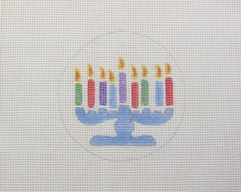 Christmas Jewish  Hanukkah  Handpainted Needlepoint Canvas