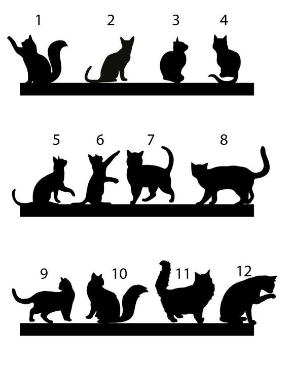 black cat wedding cake toppers cat cake topper wedding cake topper cats silhouette cupcake 11859