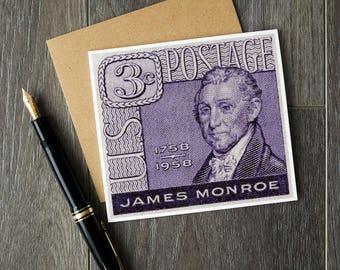 James Monroe, President Monroe, Presidents' Day, US Presidents, USA history, US history cards, history teachers, history classroom, 1958