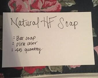 Natural HF bar soap