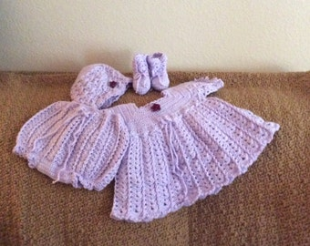 Baby layette lavender