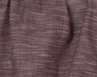 Linen Cotton  Fabric. Plum Purple Color .Printed fabric.Fabric by the yard.