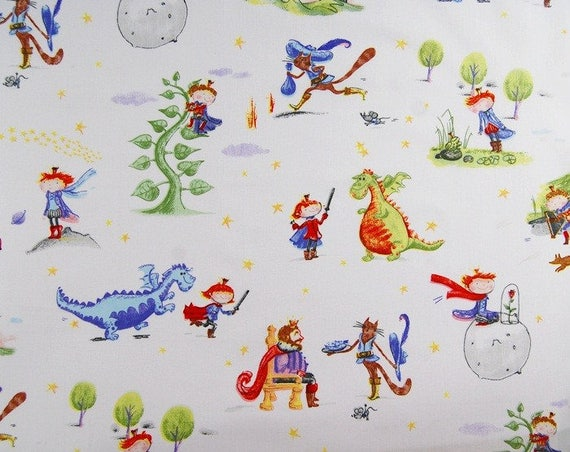 Cotton fabric printed fabric quilting fabric dragon for Dragon fabric kids