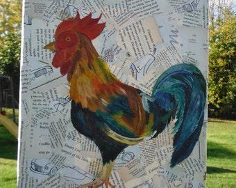 Cheeping Chicken - Mixed Media