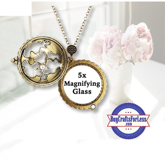 Magnifying Glass PENDANT, WORLD MAP +FReE SHiPPing & Discounts*