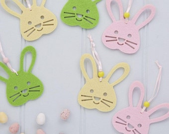 Easter Decorations - Easter Bunny - Set of Six