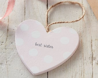 Sister Sign - Wooden Heart Sign