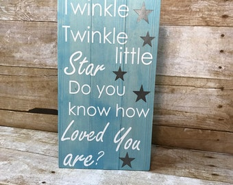Twinkle twinkle little star sign, nursery decor