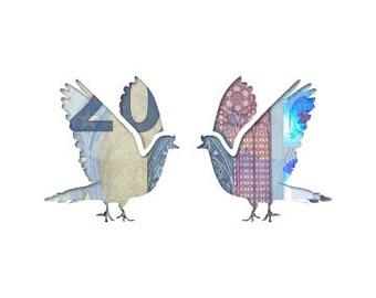 Money gift card wedding doves