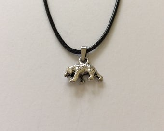 Bear necklace / bear jewellery / animal necklace / animal jewellery / animal lover gift