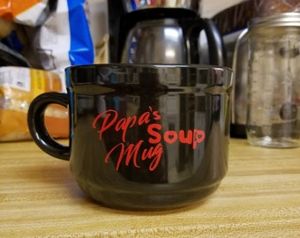 Personalized soup mug