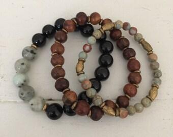 The Rayne set - jewelry bundle - beaded beacelets