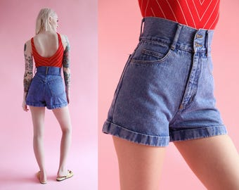 Vtg 90s American Flag High Waisted Shorts 24.5 Waist sz