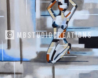 Abstract female figure painting