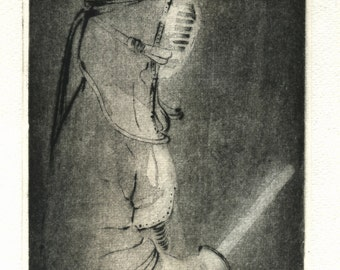 "original etching ""Kendo"""