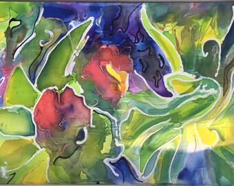 Silk Painting Art of Flowers