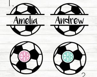 Soccer Decal - Soccer Ball Decal - Soccer Mom Decal - Soccer Mom Sticker - Soccer Sticker - Name Decal - Monogram Decal - Monogram Soccer