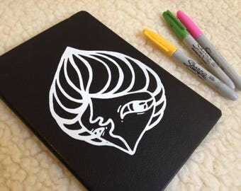 book with screen printing design note book White