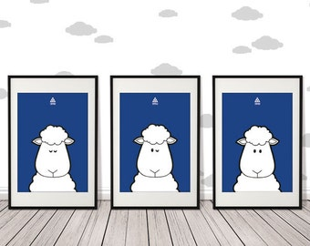 Nursery Wall Art, Black and White Decor for Kids, Sheep, wall art print, Kids room decor, nursery decor kids print, teenytribeprint
