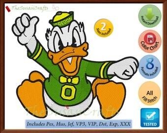 OREGON Ducks 1st EMBROIDERY DESIGNS Pes, Hus, Jef, Dst, Exp, Vp3, Xxx, Vip