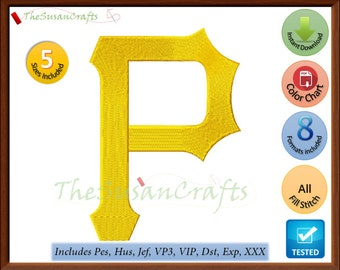 PITTSBURGH Pirates EMBROIDERY DESIGNS Pes, Hus, Jef, Dst, Exp, Vp3, Xxx, Vip