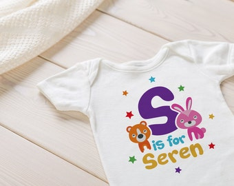 Personalised Name Baby grow - Baby Vest, Bodysuit, baby, newborn, infant clothing, baby gift, new mum, mum to be, baby clothing,
