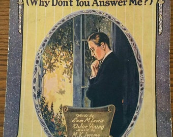 Ephemera Sheet Music Old Pal (Why Don't You Answer Me?) 1920