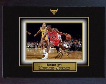 Michael Jordan signed autograph Basketball Memorabilia Chicago Bulls NBA Framed