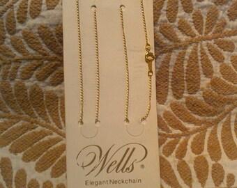 "20% off Vintage 12Kt Gold Filled WELLS Elegant 18"" Neckchain / Chain / Necklace"