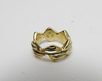 Brass ring with thread worked