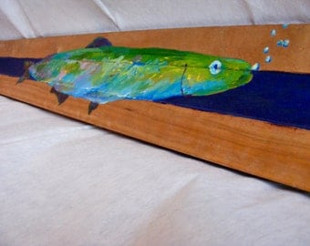 Northeast NY Fish (Acrylic Paint on Wood)