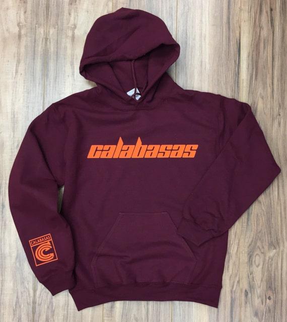 calabasas hoodie kanye west hoodie orange print. Black Bedroom Furniture Sets. Home Design Ideas